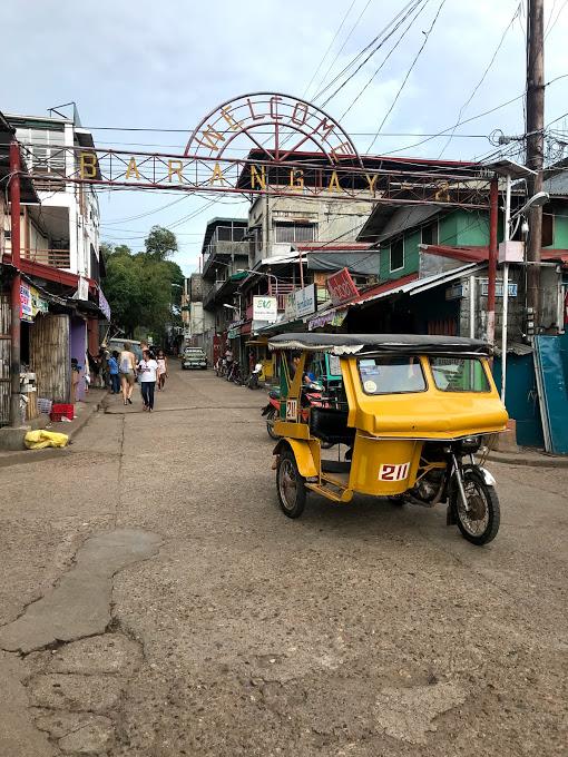Tricycle in Coron stad, Filipijnen