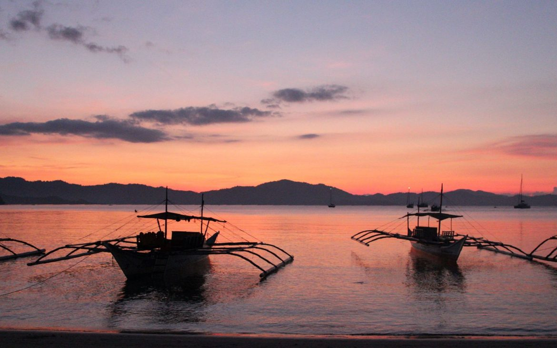 Port Barton, Filipijnen, zonsondergang