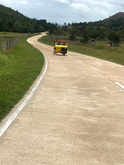 Tricycle Coron, van Busuanga airport naar Coron stad, Filipijnen